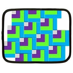 Geometric 3d Mosaic Bold Vibrant Netbook Case (xl)