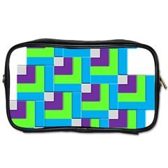 Geometric 3d Mosaic Bold Vibrant Toiletries Bags
