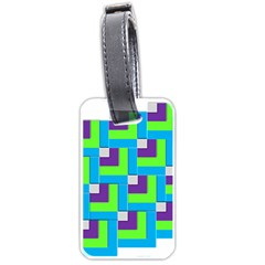 Geometric 3d Mosaic Bold Vibrant Luggage Tags (two Sides)
