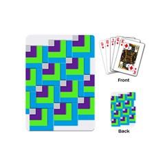 Geometric 3d Mosaic Bold Vibrant Playing Cards (mini)