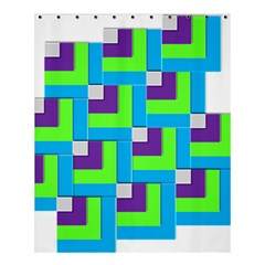 Geometric 3d Mosaic Bold Vibrant Shower Curtain 60  X 72  (medium)