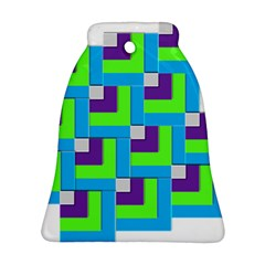 Geometric 3d Mosaic Bold Vibrant Bell Ornament (two Sides)