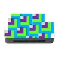 Geometric 3d Mosaic Bold Vibrant Memory Card Reader With Cf