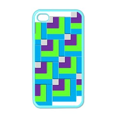 Geometric 3d Mosaic Bold Vibrant Apple Iphone 4 Case (color)