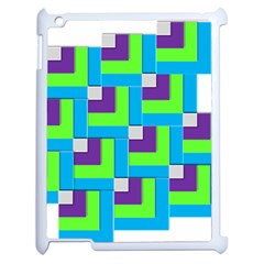Geometric 3d Mosaic Bold Vibrant Apple iPad 2 Case (White)