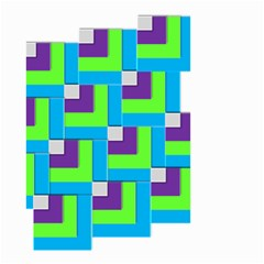 Geometric 3d Mosaic Bold Vibrant Small Garden Flag (two Sides)