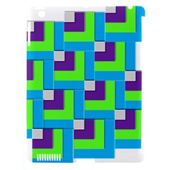 Geometric 3d Mosaic Bold Vibrant Apple Ipad 3/4 Hardshell Case (compatible With Smart Cover)