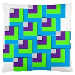 Geometric 3d Mosaic Bold Vibrant Large Cushion Case (one Side)