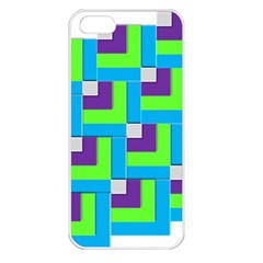Geometric 3d Mosaic Bold Vibrant Apple Iphone 5 Seamless Case (white)