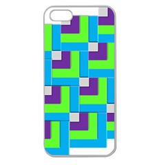 Geometric 3d Mosaic Bold Vibrant Apple Seamless Iphone 5 Case (clear)