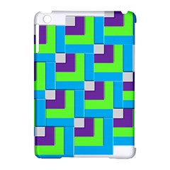 Geometric 3d Mosaic Bold Vibrant Apple iPad Mini Hardshell Case (Compatible with Smart Cover)