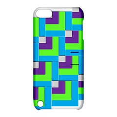 Geometric 3d Mosaic Bold Vibrant Apple Ipod Touch 5 Hardshell Case With Stand