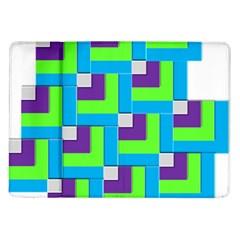 Geometric 3d Mosaic Bold Vibrant Samsung Galaxy Tab 10 1  P7500 Flip Case