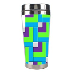 Geometric 3d Mosaic Bold Vibrant Stainless Steel Travel Tumblers