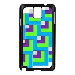 Geometric 3d Mosaic Bold Vibrant Samsung Galaxy Note 3 N9005 Case (black)