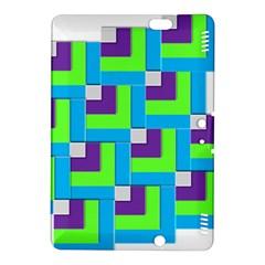 Geometric 3d Mosaic Bold Vibrant Kindle Fire Hdx 8 9  Hardshell Case
