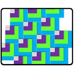 Geometric 3d Mosaic Bold Vibrant Double Sided Fleece Blanket (Medium)