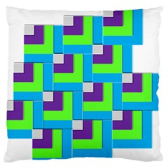 Geometric 3d Mosaic Bold Vibrant Large Flano Cushion Case (Two Sides)