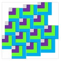 Geometric 3d Mosaic Bold Vibrant Large Satin Scarf (square)