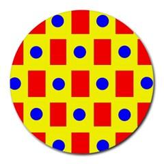 Pattern Design Backdrop Round Mousepads