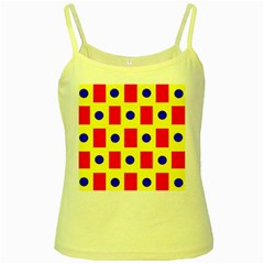 Pattern Design Backdrop Yellow Spaghetti Tank
