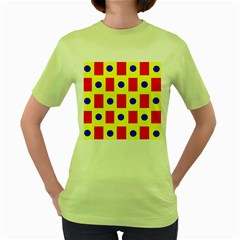 Pattern Design Backdrop Women s Green T Shirt