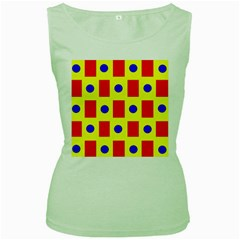 Pattern Design Backdrop Women s Green Tank Top