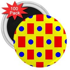 Pattern Design Backdrop 3  Magnets (100 Pack)