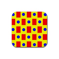 Pattern Design Backdrop Rubber Coaster (Square)
