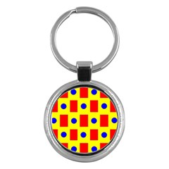 Pattern Design Backdrop Key Chains (round)