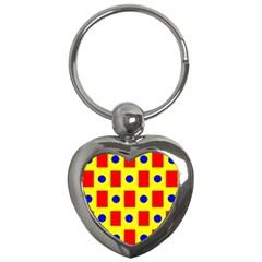 Pattern Design Backdrop Key Chains (heart)