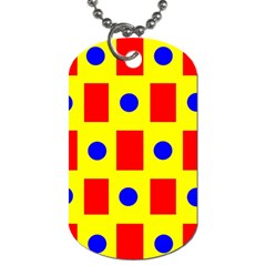 Pattern Design Backdrop Dog Tag (One Side)