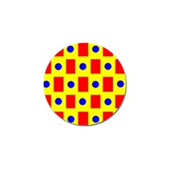 Pattern Design Backdrop Golf Ball Marker