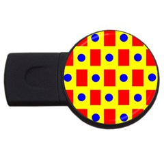 Pattern Design Backdrop USB Flash Drive Round (2 GB)