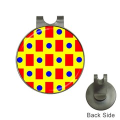Pattern Design Backdrop Hat Clips With Golf Markers