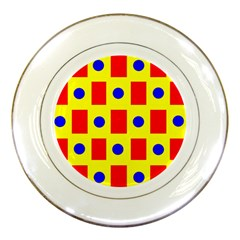 Pattern Design Backdrop Porcelain Plates