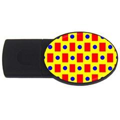Pattern Design Backdrop Usb Flash Drive Oval (4 Gb)