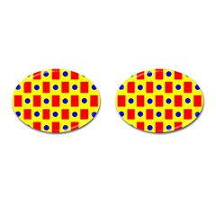 Pattern Design Backdrop Cufflinks (Oval)