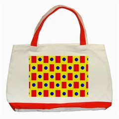 Pattern Design Backdrop Classic Tote Bag (red)
