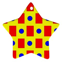 Pattern Design Backdrop Star Ornament (two Sides)