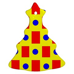 Pattern Design Backdrop Christmas Tree Ornament (two Sides)