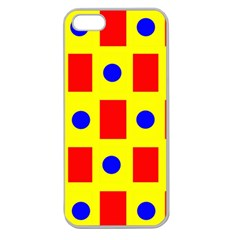 Pattern Design Backdrop Apple Seamless Iphone 5 Case (clear)