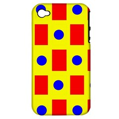 Pattern Design Backdrop Apple Iphone 4/4s Hardshell Case (pc+silicone)