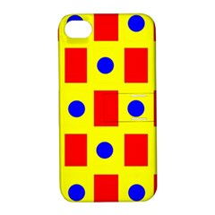 Pattern Design Backdrop Apple iPhone 4/4S Hardshell Case with Stand