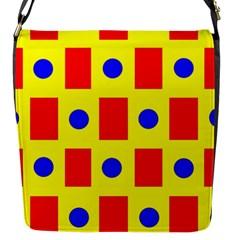 Pattern Design Backdrop Flap Messenger Bag (S)