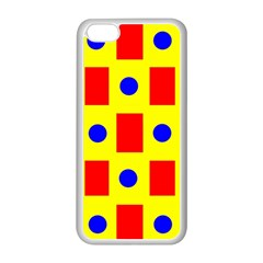 Pattern Design Backdrop Apple Iphone 5c Seamless Case (white)