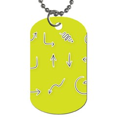 Arrow Line Sign Circle Flat Curve Dog Tag (One Side)