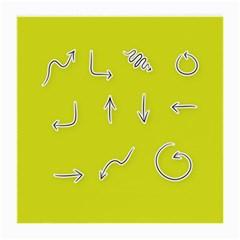 Arrow Line Sign Circle Flat Curve Medium Glasses Cloth