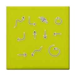 Arrow Line Sign Circle Flat Curve Face Towel