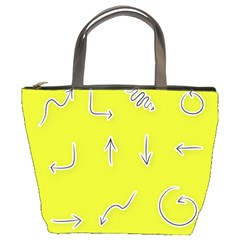 Arrow Line Sign Circle Flat Curve Bucket Bags